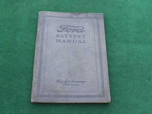 1920�s Dealer Ford Battery Manual (Image1)