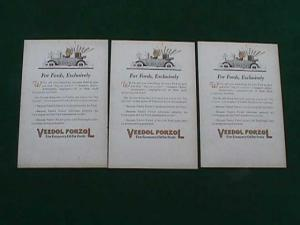 Ford Veedol Forzol Oil Adver. Postcards (Image1)