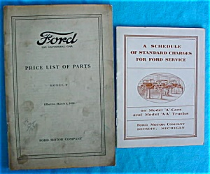 Pr. of Early Ford Price Booklets (Image1)