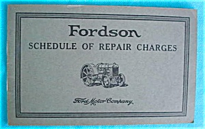 Fordson Tractor Schedule of Repair Charges (Image1)