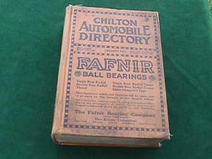 1921 CHILTON AUTOMOBILE DIRECTORY (Image1)