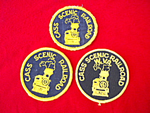 3 Cass Scenic Railroad West Virginia Patches (Image1)