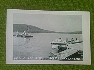 Will O' The Wisp Deep Creek MD Postcard (Image1)