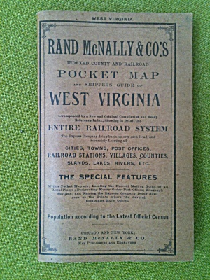 1910 Rand McNally West Virginia Pocket Map  (Image1)