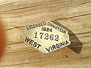 West Virginia Chauffeur Badge 1924 (Image1)