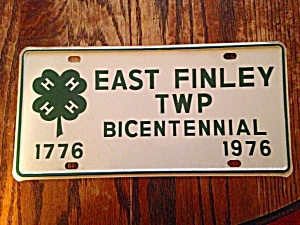 East Finley PA 4H Bicentennial LIcense Plate (Image1)