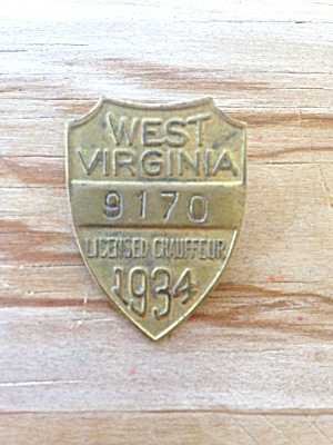 1934 West Virginia Chauffeur Badge (Image1)
