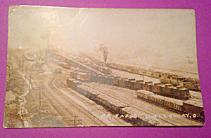 Old Postcard Rail Yards Holloway Ohio (Image1)