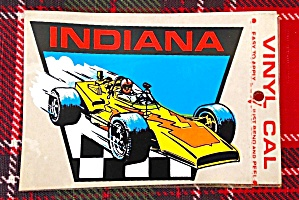 Indiana Travel Decal w/Race Car (Image1)