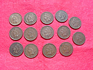 Indian Head Penny Collection 1886-99 (Image1)