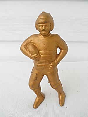 Early Cast Iron Football Player Still Bank (Image1)