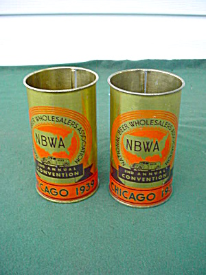 1939 Chicago 2nd Annual Beer Convention Mugs (Image1)