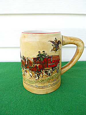1980 Budweiser Mug w/Clydesdales  (Image1)