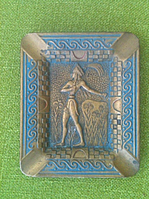 Roman Soldier Brass Ashtray