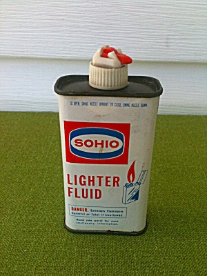 Old SOHIO Lighter Fluid Tin (Image1)