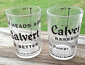 Pr. of Vintage Calvert Whiskey Shot Glasses (Image1)