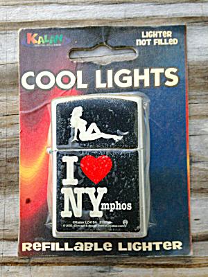 Kalan Cigarette Lighter I LOVE NYMPHOS (Image1)