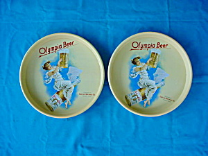 Matching Pr. of Olympia Beer Adver. Trays (Image1)