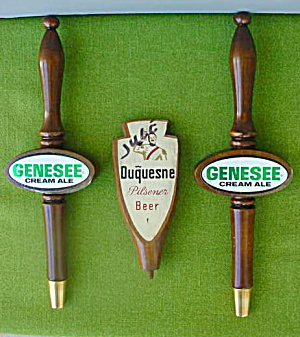3 Older Beer Taps Genesee & Duquesne (Image1)
