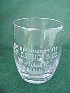 Early, C.F. Zaruba Pittsburgh, Pa Shot Glass (Image1)
