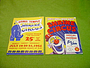 50's Shriner Circus Wheeling, Wv Programs