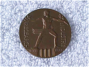 '33 Chicago Exposition Industry Reserch Medal (Image1)
