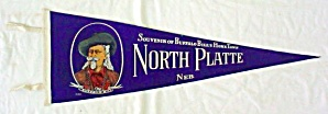 Old Felt Pennant Buffalo Bill North Platte Ne (Image1)