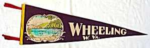 Old Felt Pennant Wheeling West Virginia (Image1)