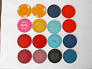 Old Poker Chips No. CA & Nevada Clubs (Image1)