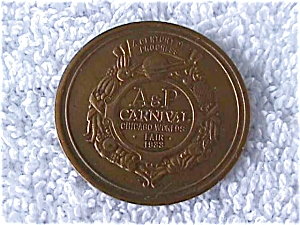 1933 Chicago World's Fair A&P Carnival Medal (Image1)