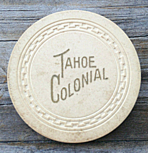 $1 Poker Chip Tahoe Colonial 1950s (Image1)