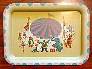 1950's Circus Tv Tray