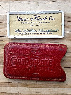 Vintage Charga Card Meier & Frank Portland OR (Image1)