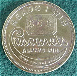 Cascarets Advertisement Coin (Image1)