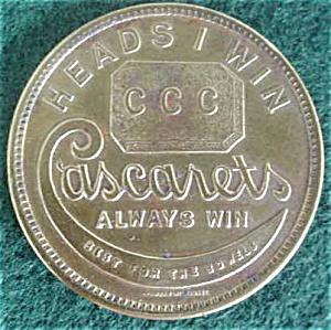 Cascarets Advertisement Coin (Image1)