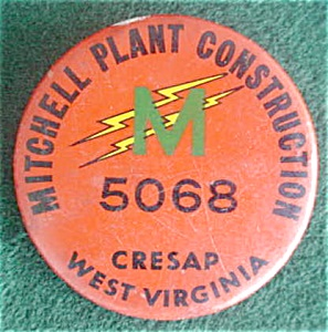 Mitchell Plant Cresap, Wv Employee Badge