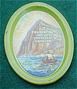 Prudential Adver. Oval Tray (Image1)