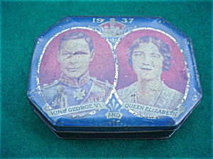 1937 King George & Queen Elizabeth Tin (Image1)