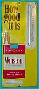Winston Cigarettes Adver. Thermometer (Image1)