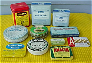 Huge Early Lot of Drug/Pharma. Tins (Image1)