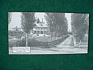 Homestead Farm Hershey Chocolate Co. Postcard (Image1)