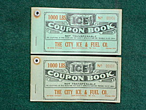 City Ice & Fuel Moundsville WV Coupon Books (Image1)