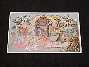 Old B Shoninger Organ & Piano Co., Trade Card (Image1)