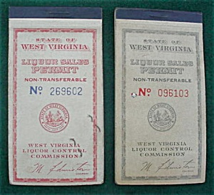 Pr of West Virginia Liquor Sales Ticket Books (Image1)