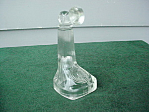 Early Glass Telephone Candy Container