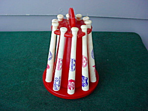 NL Souvenir Bat Collection w/Rack (Image1)