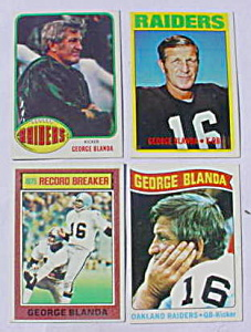 George Blanda Oakland Raiders Football Cards (Image1)