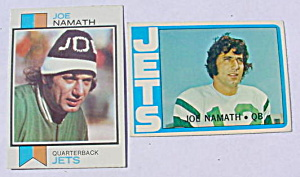 Pr. of Joe Namath N.Y. Jets Football Cards (Image1)