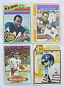 Walter Payton Chicago Bears Football Cards