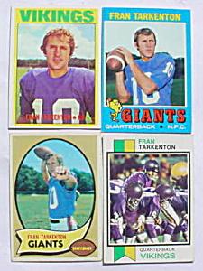 Fran Tarkenton Football Card Collection (Image1)